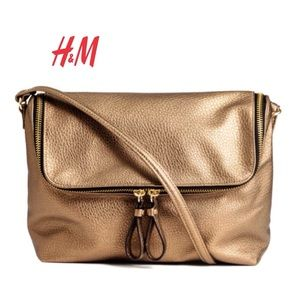 H&M Bronze Gold Crossbody Shoulder Bag, Europe